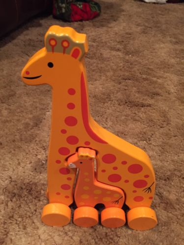 Wooden Giraffe Set Toy-
