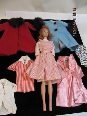 Vintage Mattel Midge Doll Titian 1962 Candy Striper Barbie Skipper Ken Clothing