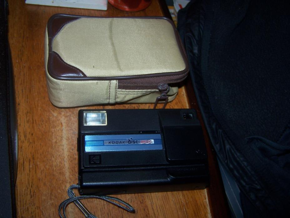 Vintage Kodak Disc 3600 Camera with case LOOK!