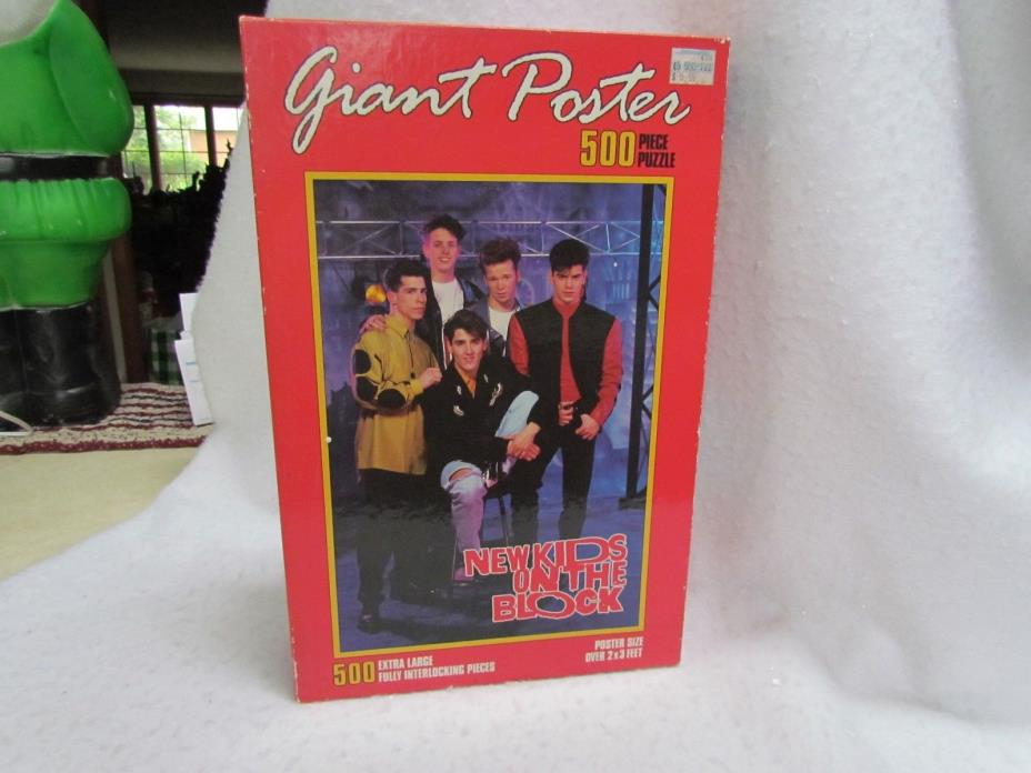 1990 Milton Bradley Giant Poster 500 Piece Jigsaw Puzzle:New Kids on the Block#2