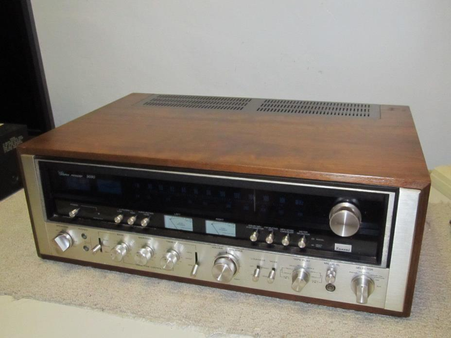 Vintage Sansui 9090 AM/FM Stereo Receiver, NOT WORKING  #1
