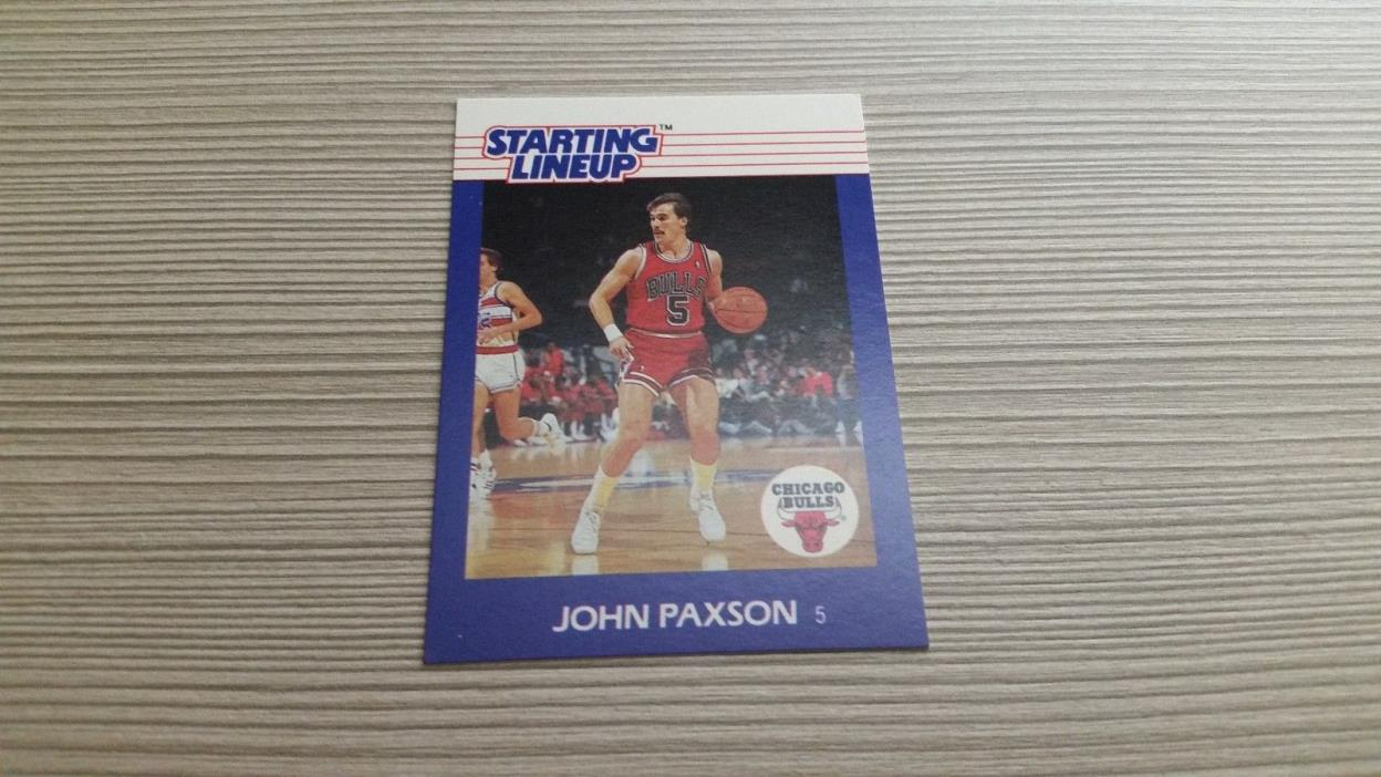 John Paxson 1988 Starting Lineup Chicago Bulls SLU
