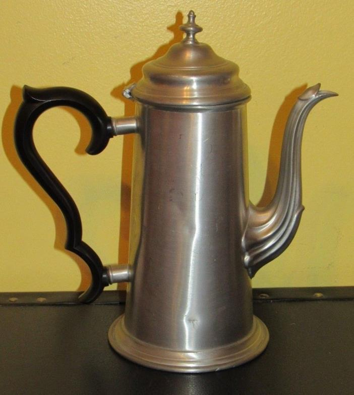 ~Antique English Pewter Coffee Tea Pot Leonard Hand Made in Sheffield England~