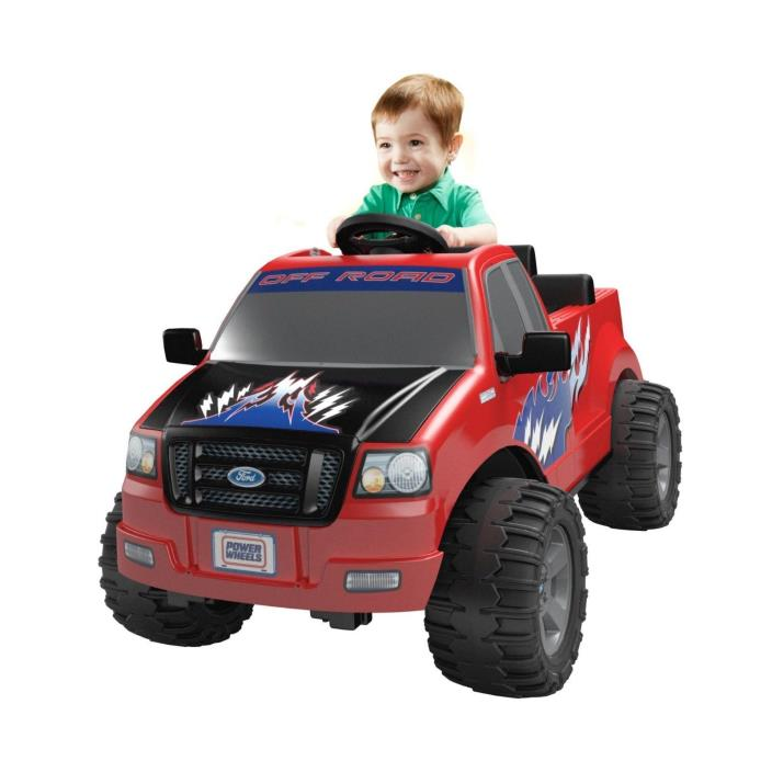 Power Wheels Ford Lil' F-150 Truck Battery-Operated Ride-On Fisher-Price Red 2-4
