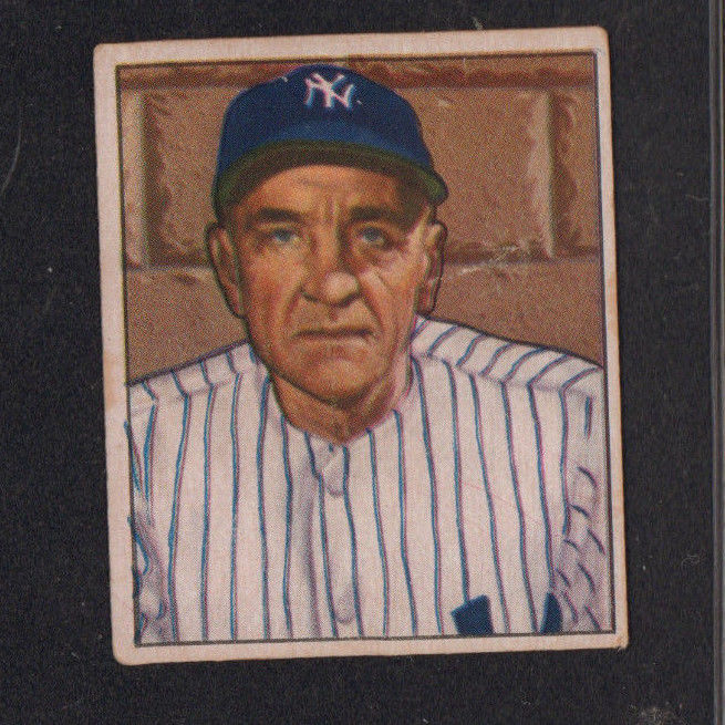 Vintage 1950 Bowman Baseball Card Casey Stengel New York Yankees