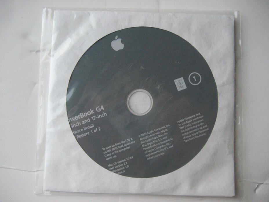Macintosh PowerBook G4 15-inch and 17-inch software installation & startup DVDs