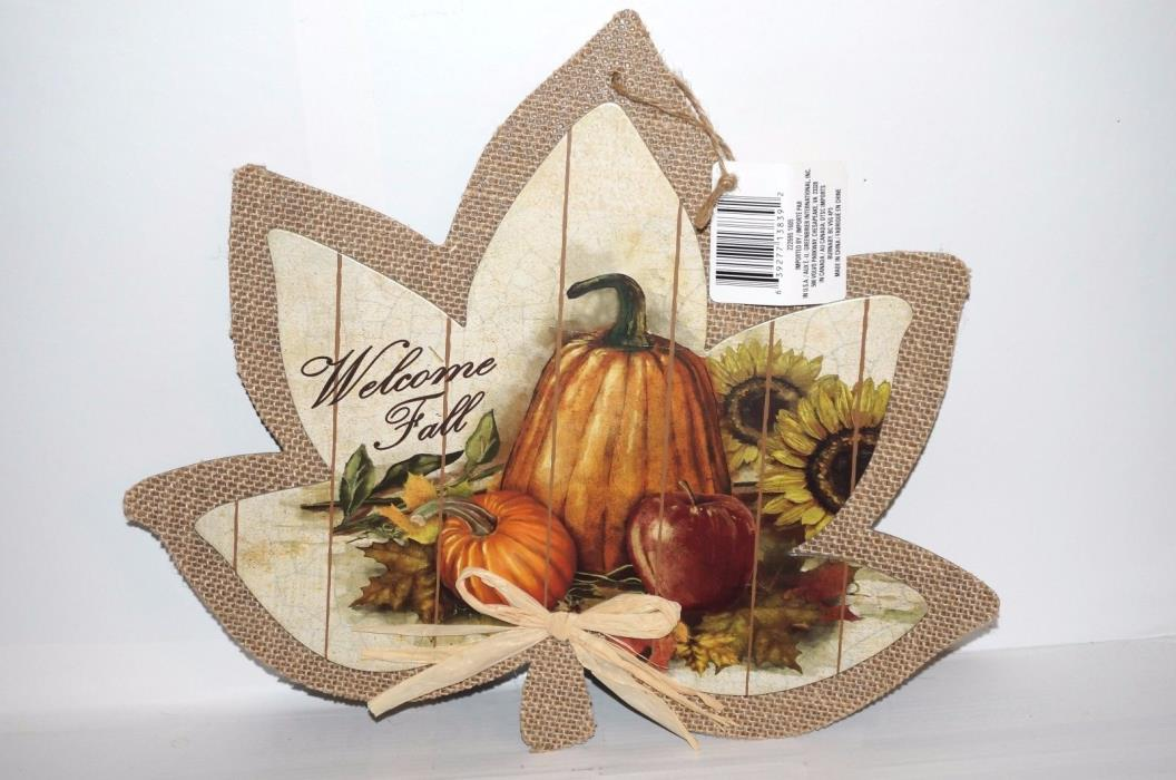 Autumn Fall Harvest Door Wall Hanging Thanksgiving Decor Welcome