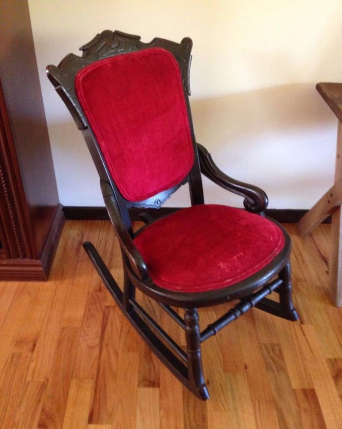 Antique Red Child Rocking Chair - Charles East Lake