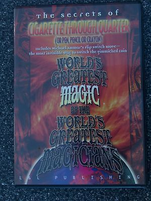 Cigarette Through Quarter  (World's Greatest Magic) - DVD - Magic Tricks