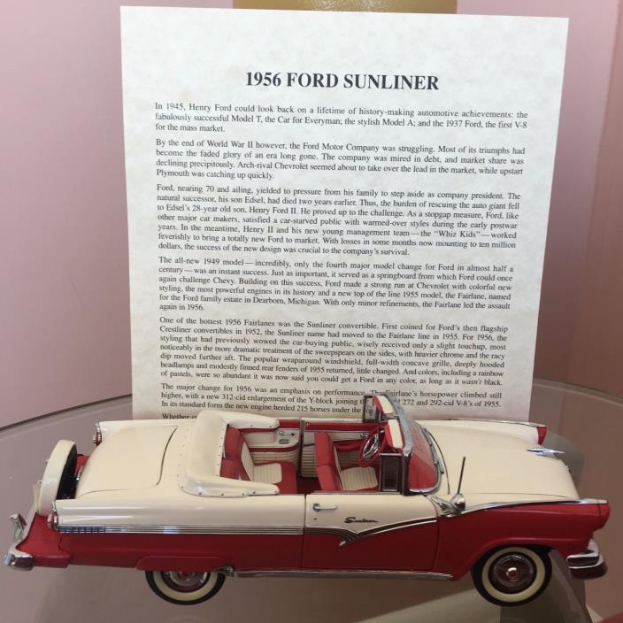 1956 Ford Sunliner Danbury Mint