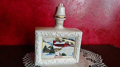 VTG Christmas Decanter Marita Spirits Whiskey Bourbon Bottle Anniversary Empty