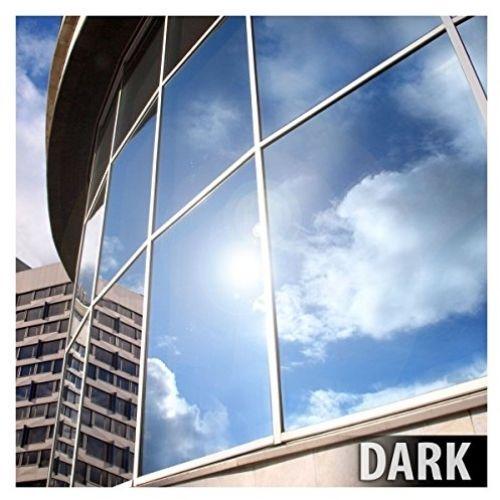 BDF EXS15 EXTERIOR Window Film Privacy And Sun Control Silver 15, Dark - 12in X