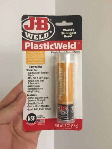 J-B Weld 8237 PlasticWeld Plastic Repair Epoxy Putty - 2 oz J-B Weld