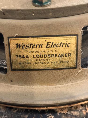 Western Electric Speaker