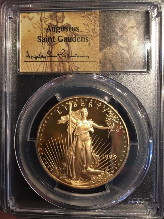 1995-W 1 oz Proof Gold American Eagle PCGS PR70DCAM Saint Gaudens Label POP 24!