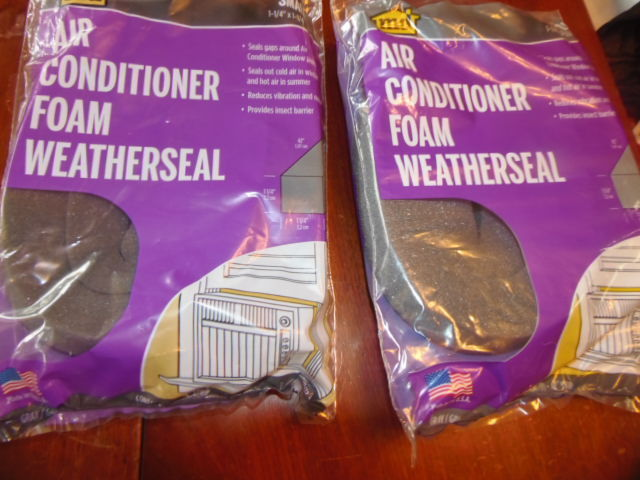M-D  AIR CONDITIONER FOAM WEATHERSEAL.  2 PACKAGES 1-1/4'X1-1/4