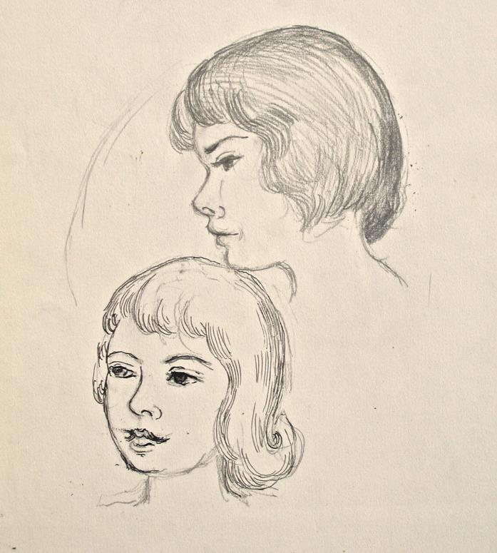 Dorothy Eaton Drawing (XXXIV) Portraits of Women
