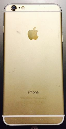 Apple iPhone 6 Plus 64gb Smarphone Gold Touchscreen Good Case Cellphone As Is
