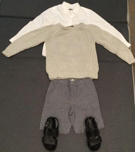 Bonpoint Boys Wardrobe Summer Size 6 (shirt, Sweater, Shorts, Sandals: Size 30)