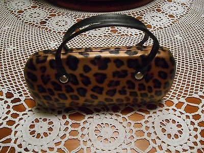 SAX Sunglass Case Eye Glass Case Container Carrier Holder Leopard Cheetah Animal