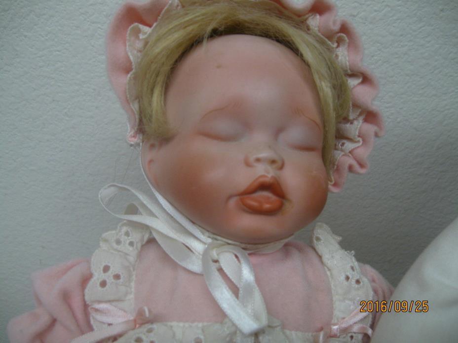 Kathy Hippensteel Catherine's Christening Elizabeth's Homecoming Doll in Basket