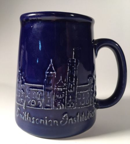 Smithsonian Institution, Colbalt Blue, Coffee Mug, Bennington Potters Vermont,