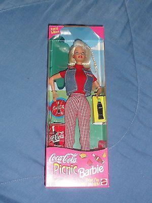 NEW Barbie Coca Cola Coke Picnic Doll Special Edition 19626 SUMMER AMERICAN