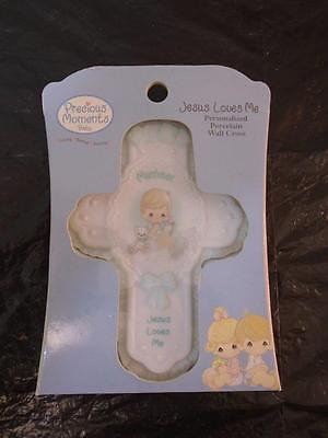 Precious Moments Baby Decor Michael Christian Cross Bible Wall Hanging Figurine