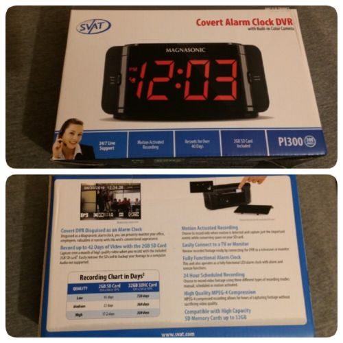 Svat Covert Alarm Clock DVR With Built In Color Camera