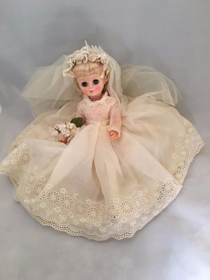Vintage Rare Collectible Beautiful Effanbee Blinking Bride Doll 1966