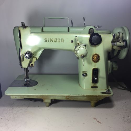 HEAVY DUTY SINGER 319w INDUSTRIAL STRENGTH SEWING MACHINE ALL METAL TESTED