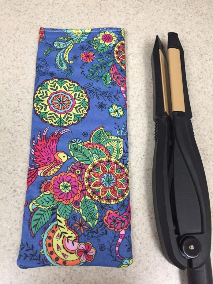 Flat Iron / Curling Iron Case/ Cover - Exotic Colorful Birds & Flowers - NEW!