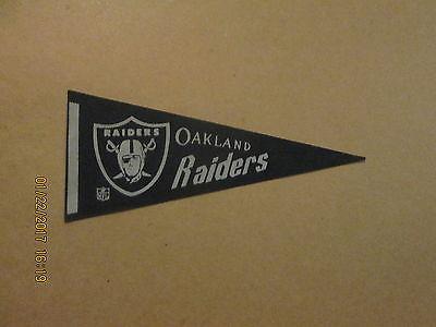 NFL Oakland Raiders Vintage Circa 1970's Mini Football Pennant
