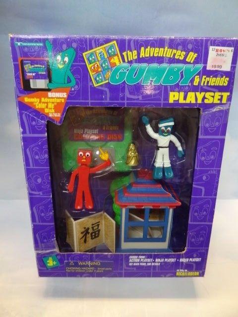 RARE 1995 Trendmasters Adventures of Gumby & Pokey Playset MIB