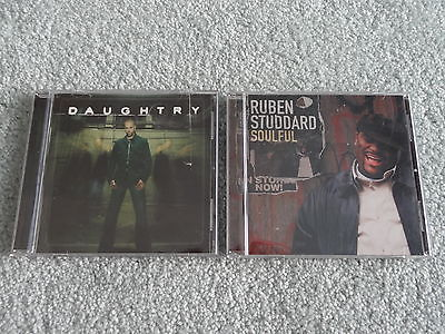 Lot of 2 American Idol CDs Daughtry, Ruben Studdard