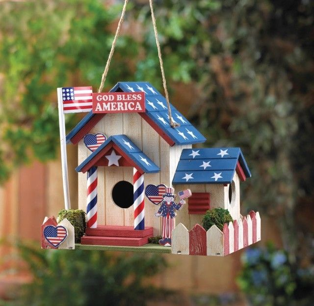 Bird House/ Bird house with Patriotic Theme; its beautiful