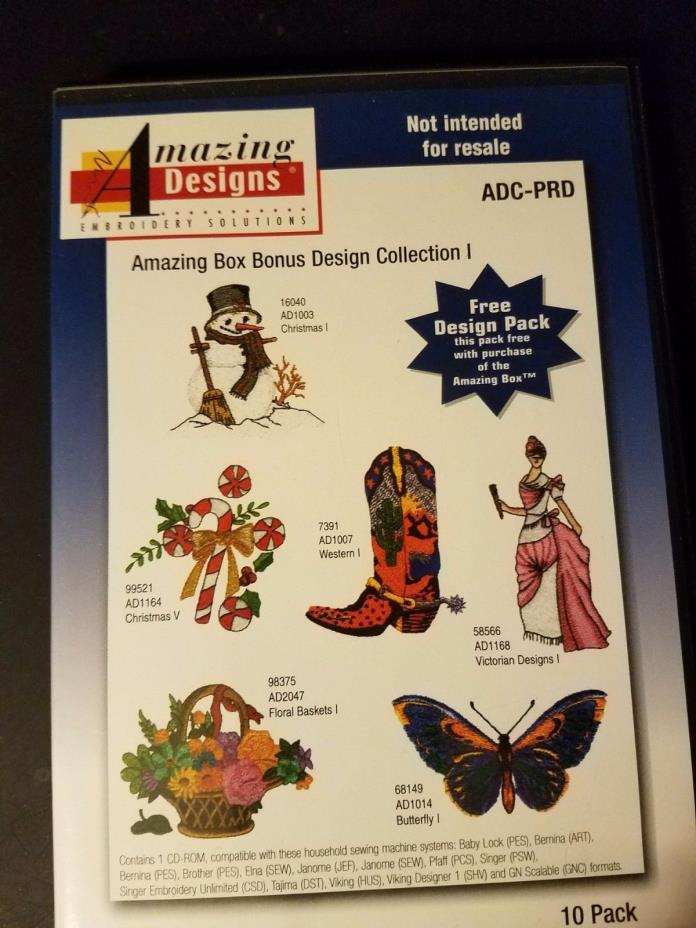 Amazing Designs Embroidery: Amazing Box Bonus Collection 1 (CD-ROM) ADC-PRD