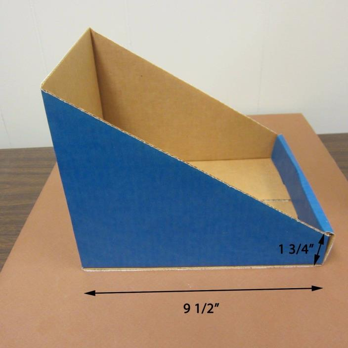 Lot of 500 Blue Cardboard Dump Displays/Storage Boxes