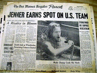 7 headline newspapers from 1972 MUNICH Germany SUMMER OLYMPICS Mark Spitz GOLD
