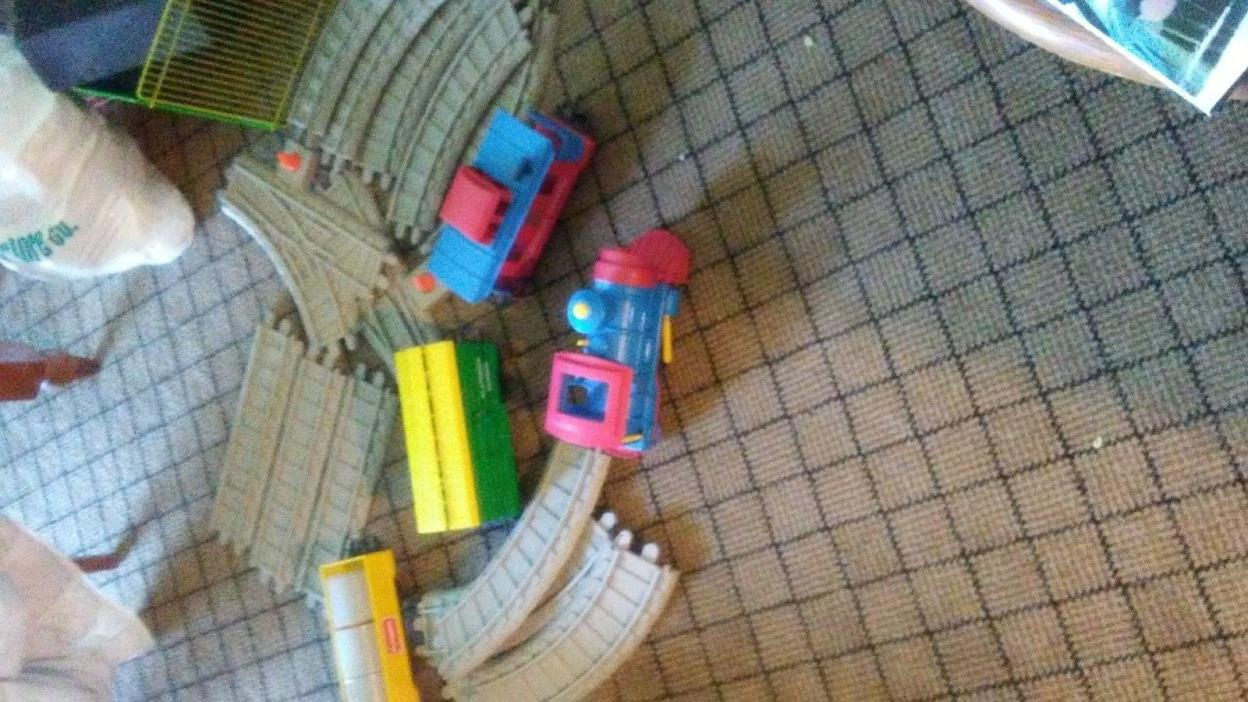 vintage 1988 playskool train set
