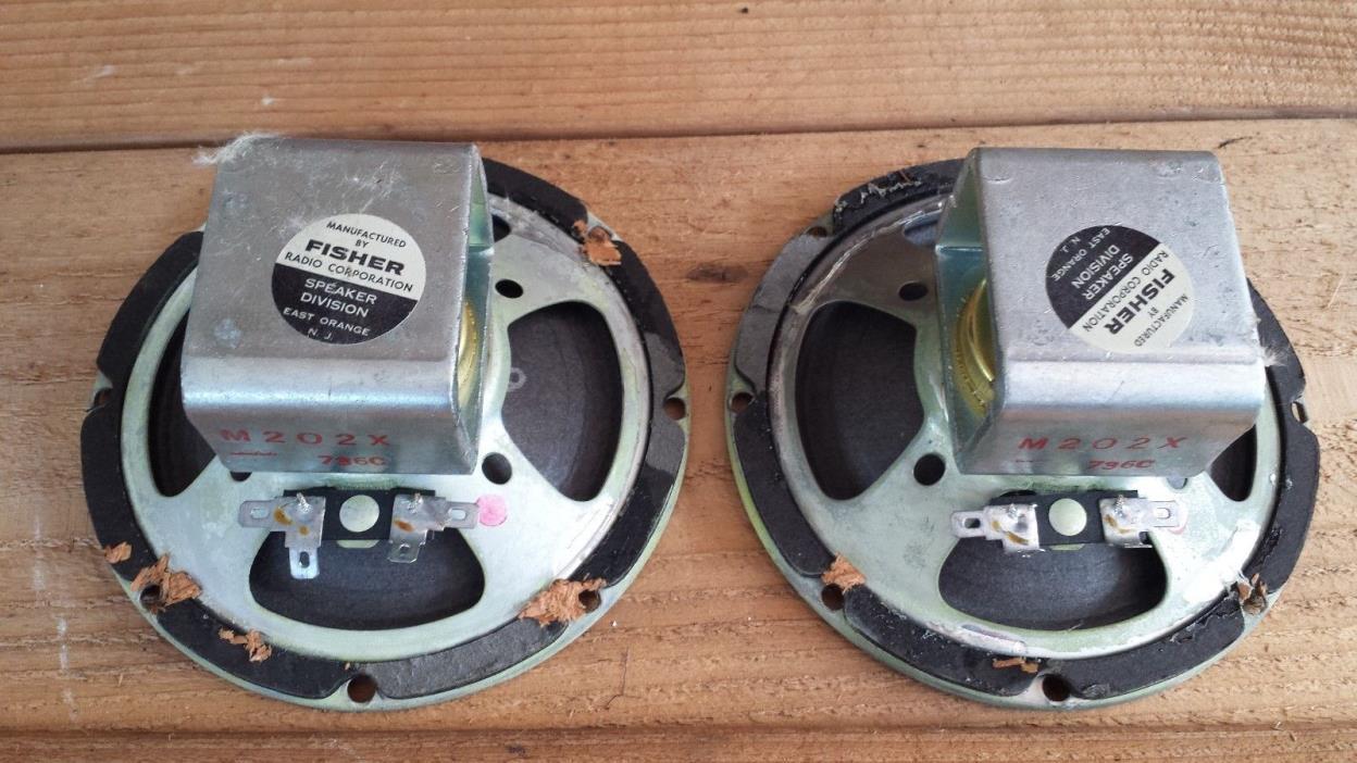 Pair of Vintage The Fisher XP-7 m202x  736C Mid Range speaker drivers