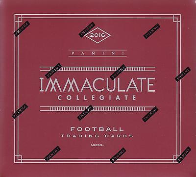 2016 Panini Immaculate Collegiate Football Hobby Box
