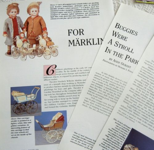 8p History Article   Pics -   Antique Marklin Doll Buggy & Carriages
