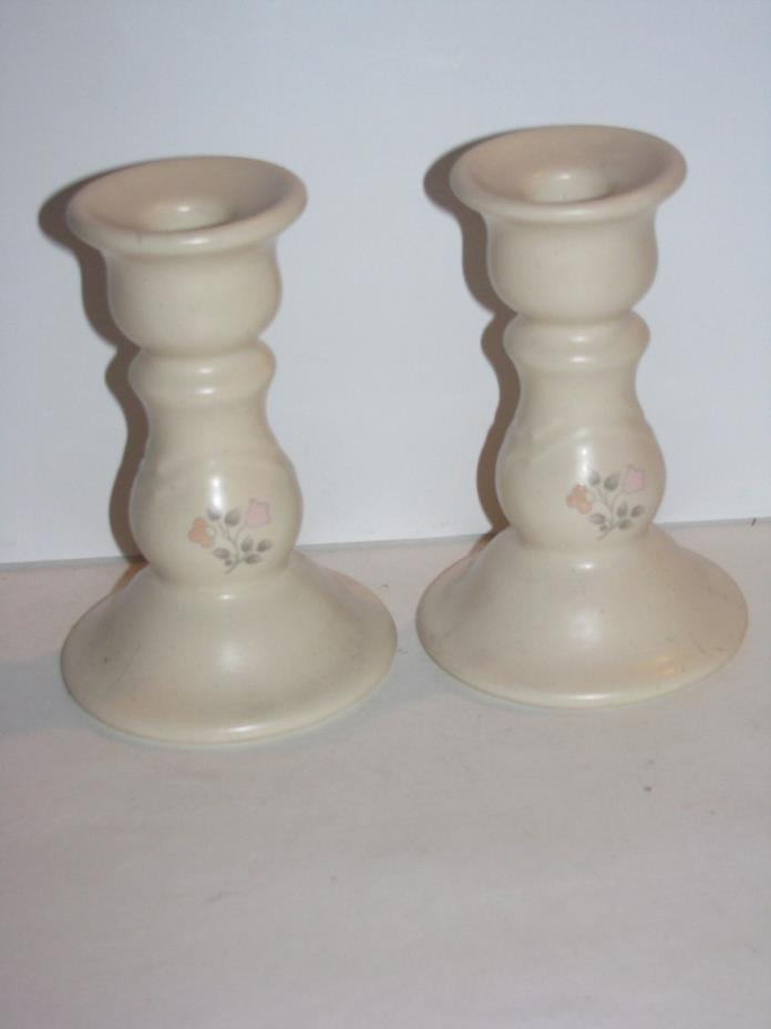 Pfaltzgraff, Remembrance, Set of 2 Candle Stick Holders