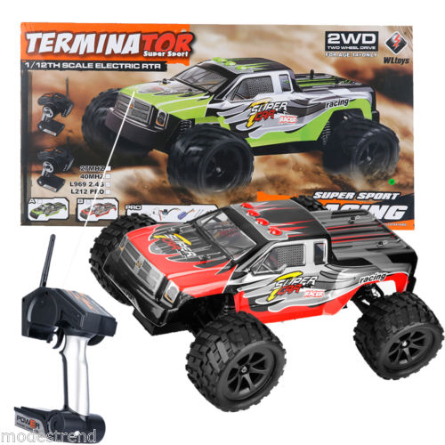 1/12 Scale 2.4GHZ Remote Control Truck Electric RC Car High Speed Monster Red US