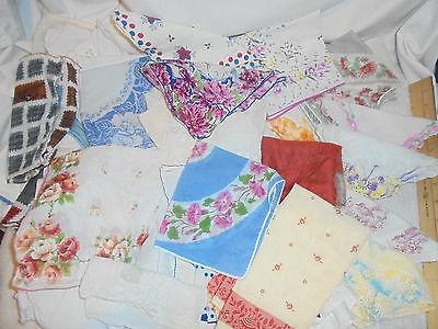 Vintage hankies handkerchiefs lot of 50  lot #C3