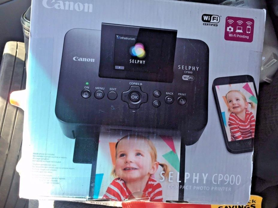 Brand New Canon Selphy CP900 Wireless Color Photo Printer