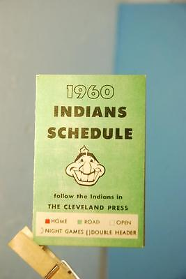 1960 Cleveland Indians Baseball Pocket Schedule The Cleveland Press