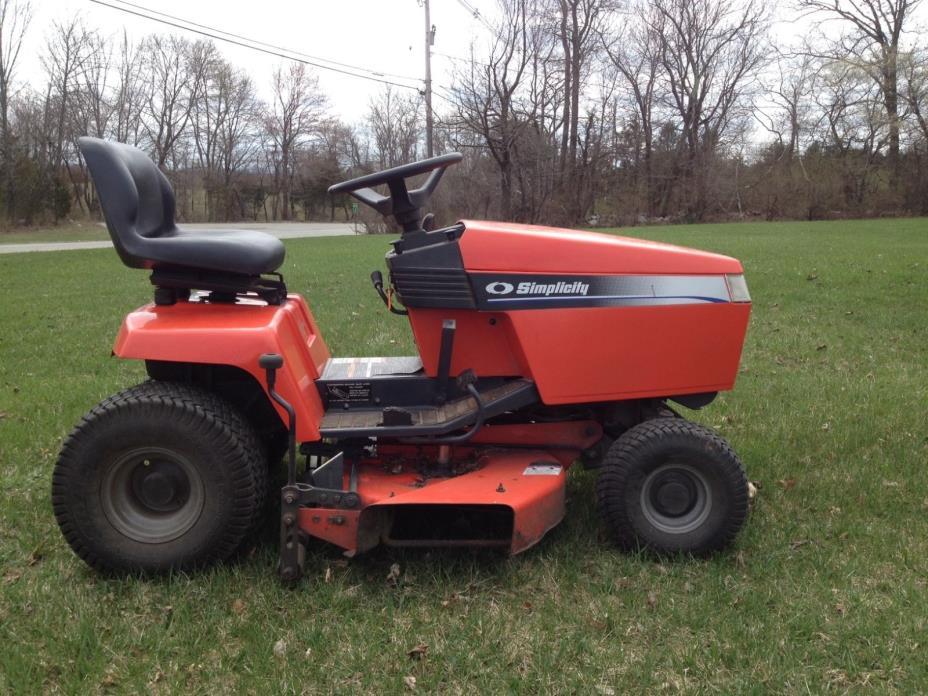 Simplicity lawn mower 38 cut 16 hp riding tractor grass garden yard landscape