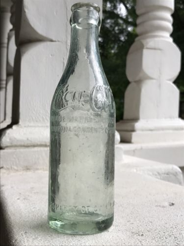Rare Straight Side Script Coca Cola Bottle Hinesville GA